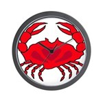 Boiled Crabs Wall Clock