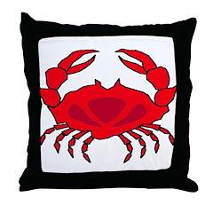 Boiled Crabs Throw Pillow