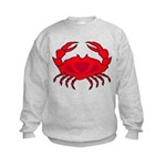 Boiled Crabs Kids Sweatshirt