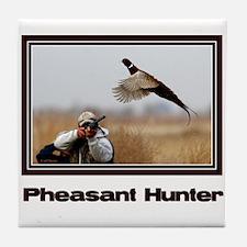 Pheasant Hunter Tile Coaster
