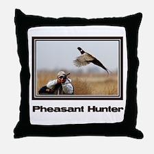 Pheasant Hunter Throw Pillow