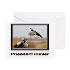 Pheasant Hunter Greeting Cards (Pk of 20)