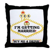 Yes: I Am Getting Married Throw Pillow