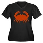 Boiled Crabs Women's Plus Size V-Neck Dark T-Shirt