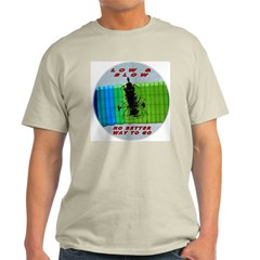 Powered Parachute Low and Slow Ash Grey T-Shirt