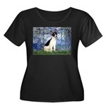 Lilies / Rat Terrier Women's Plus Size Scoop Neck