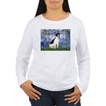 Lilies / Rat Terrier Women's Long Sleeve T-Shirt