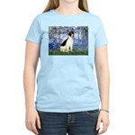 Lilies / Rat Terrier Women's Light T-Shirt