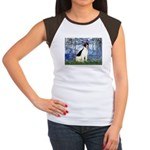 Lilies / Rat Terrier Women's Cap Sleeve T-Shirt