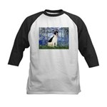 Lilies / Rat Terrier Kids Baseball Jersey