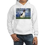 Lilies / Rat Terrier Hooded Sweatshirt
