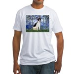 Lilies / Rat Terrier Fitted T-Shirt