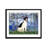 Lilies / Rat Terrier Framed Panel Print