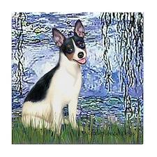 Lilies / Rat Terrier Tile Coaster
