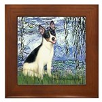 Lilies / Rat Terrier Framed Tile