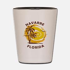 Cool Navarre beach Shot Glass
