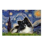 Starry Night / Pomeranian (b&w) Postcards (Package