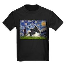 Starry Night / Pomeranian (b&w) T