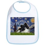 Starry Night / Pomeranian (b&w) Bib