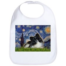 Starry Night / Pomeranian (b&w) Bib