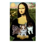 Mona Lisa/Pomeranians Postcards (Package of 8)