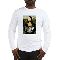 Mona Lisa/Pomeranians Long Sleeve T-Shirt