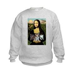 Mona Lisa/Pomeranians Sweatshirt