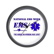 National EMS Week Gifts Wall Clock