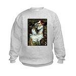 Ophelia / Pomeranian (p) Kids Sweatshirt