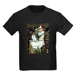 Ophelia / Pomeranian (p) Kids Dark T-Shirt