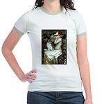 Ophelia / Pomeranian (p) Jr. Ringer T-Shirt