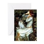 Ophelia / Pomeranian (p) Greeting Cards (Pk of 10)