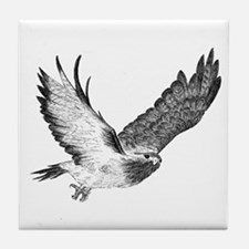Hawk in Flight Tile Coaster