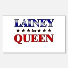 LAINEY for queen Rectangle Decal