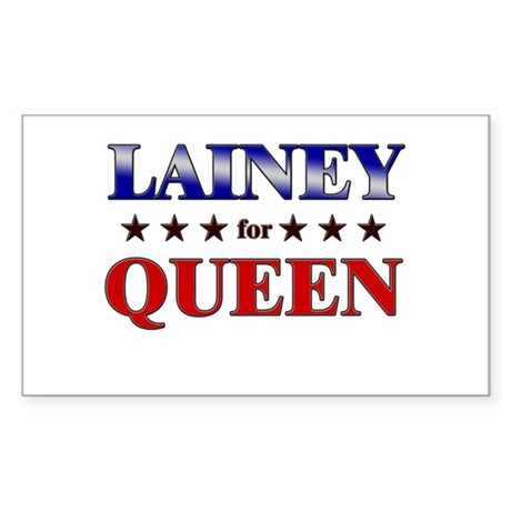 LAINEY for queen Rectangle Sticker
