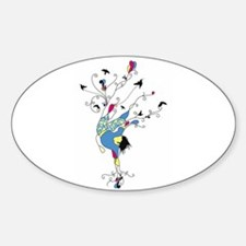 Capoeira Player Oval Bumper Stickers