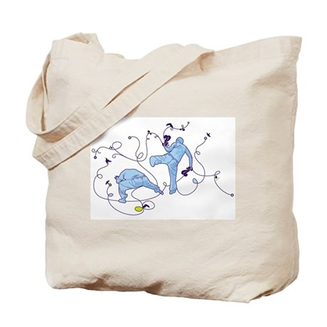 Capoeira Game Blue Tote Bag