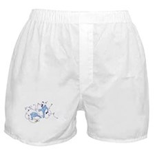 Capoeira Game Blue Boxer Shorts