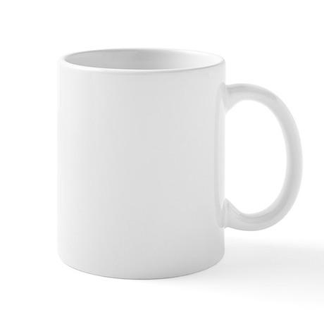 Lilies / Pomeranian (b&w) Mug