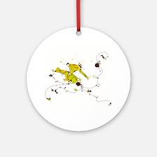 Capoeira Game Yellow Ornament (Round)
