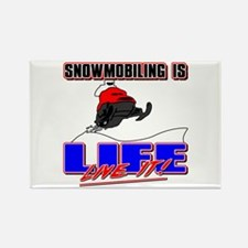 Snowmobile Life Rectangle Magnet
