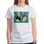 Bridge / 2 Pomeranians Women's T-Shirt