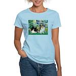 Bridge / 2 Pomeranians Women's Light T-Shirt