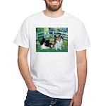 Bridge / 2 Pomeranians White T-Shirt