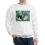 Bridge / 2 Pomeranians Sweatshirt