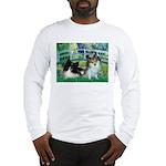 Bridge / 2 Pomeranians Long Sleeve T-Shirt