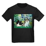 Bridge / 2 Pomeranians Kids Dark T-Shirt