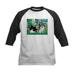 Bridge / 2 Pomeranians Kids Baseball Jersey