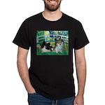Bridge / 2 Pomeranians Dark T-Shirt