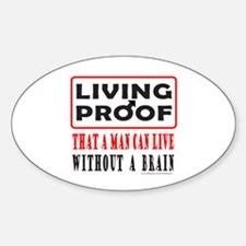 LIVING PROOF Oval Decal